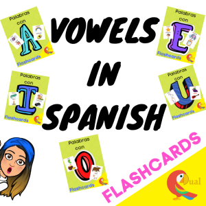 vowels flashcards Dual Educates